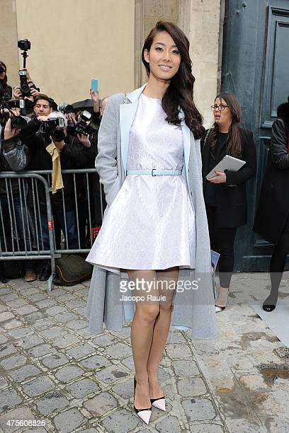 Sumire is seen arriving at the Christian Dior show as part of the Paris Fashion Week Womenswear Fall/Winter 20142015 on February 28 2014 in Paris...