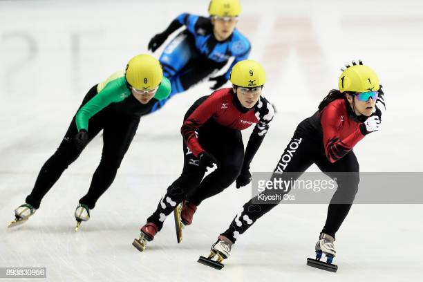 Sumire Kikuchi Ayuko Ito and Rina Yamana compete in the Ladies' 1500m Semifinal during day one of the 40th All Japan Short Track Speed Skating...