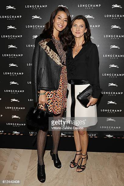 Sumire Matsubara and Sophie Delafontaine attend the Lonchamp Cocktail as part of the Paris Fashion Week Womenswear Spring/Summer 2017 at Longchamp...