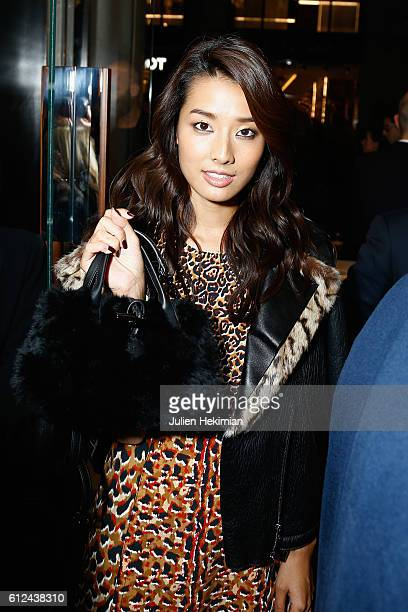 Sumire Matsubara attends the Lonchamp Cocktail as part of the Paris Fashion Week Womenswear Spring/Summer 2017 at Longchamp Boutique St Honore on...