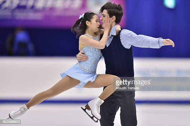 Sumire Suto and Francis BoudereauAuded of Japan compete in the Pair free skating during the day three of the 2015 Japan Figure Skating Championships...