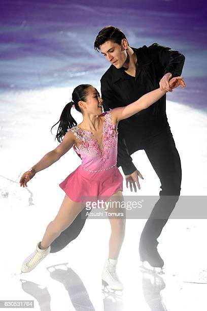 Sumire Suto and Francis BoudereauAudet of Japan perform their routine during the Japan Figure Skating Championships 2016 on December 26 2016 in...