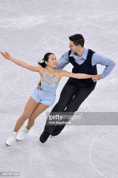 Sumire Suto Francis and BoudreauAudet of Japan compete in the Pairs Free Skating during ISU Four Continents Figure Skating Championships Gangneung...