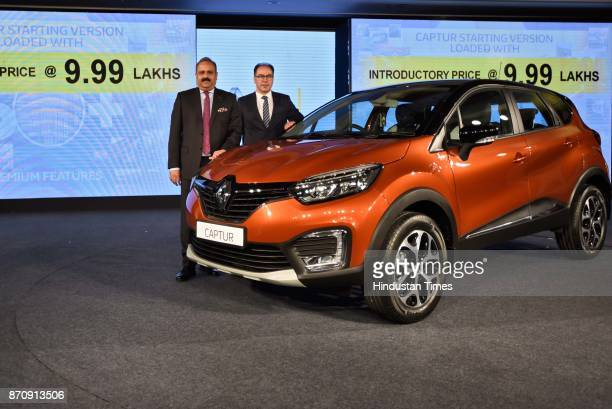 Sumit Sawhney, Managing Director and Chief Executive Officer of Renault India Private Limited during the launch of premium sports utility vehicle...