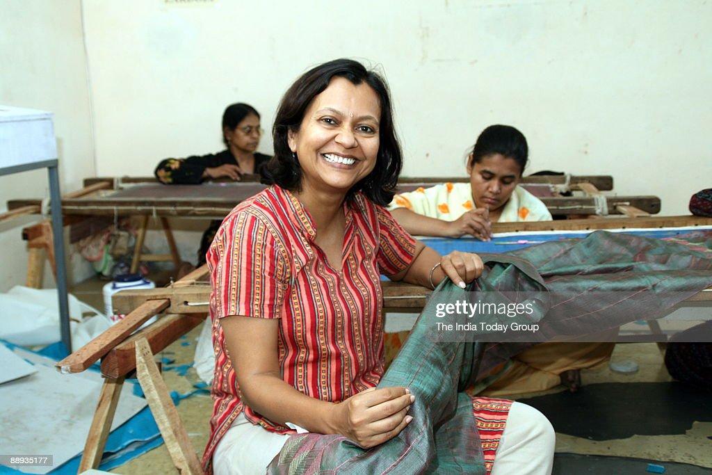 Sumita Ghose, Founder, Rangsutra, in Hyderabad, Andhra Pradesh, India. : News Photo