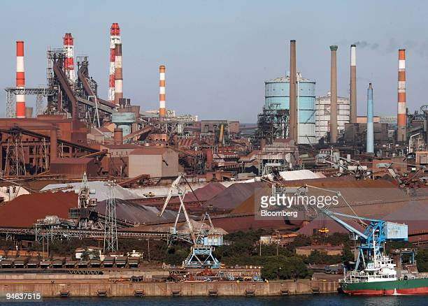 Sumitomo Metal Industries Ltd's Kashima Steelworks stands in Kashima City Ibaraki Prefecture Japan on Friday Dec 14 2007 Nippon Steel Corp the...