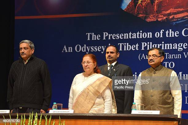 Sumitra Mahajan during the release of the Chinese version of the book 'An Odyssey in Tibet a Pilgrimage to Kailash Mansarovar' authored by Shri Tarun...