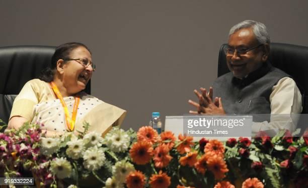 Sumitra Mahajan Hon'ble Speaker Lok Sabha with Chief Minister Nitish Kumar during the 6th India region Commonwealth Parliamentary Association...