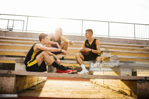 summarizing the impressions after game - sporting term stock pictures, royalty-free photos & images