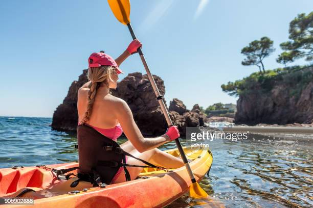 summer adventure & kayaking - sports glove stock pictures, royalty-free photos & images
