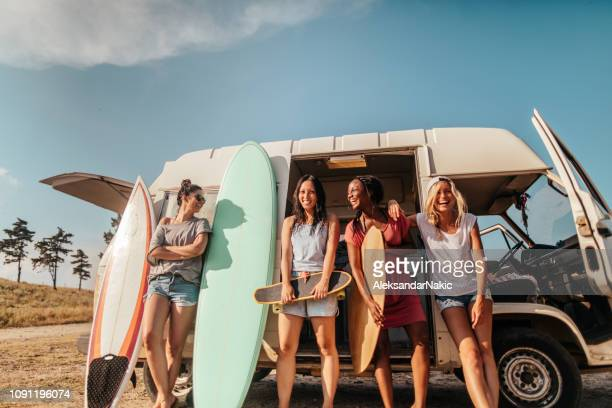 summer adventure with my girlfriends - leisure activity stock pictures, royalty-free photos & images