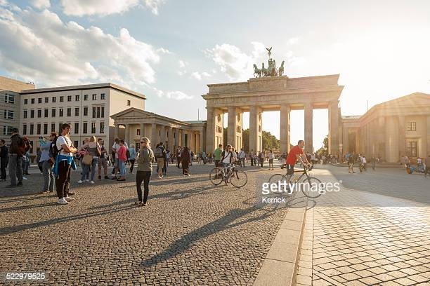 Sommer Nachmittag am Brandenburger Tor in Berlin