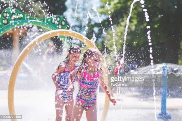 Summer afternoon at the splash pad