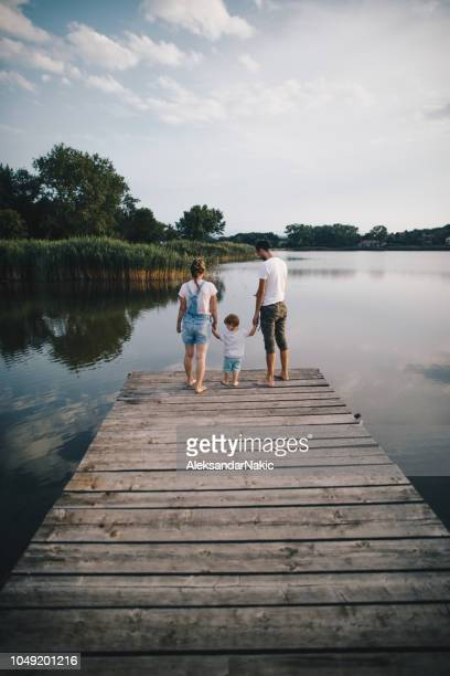 summer afternoon by the lake - pier stock pictures, royalty-free photos & images