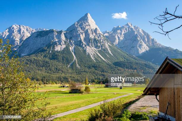 summer alpine landscape, near pfunds, austria, tyrol - austria stock pictures, royalty-free photos & images