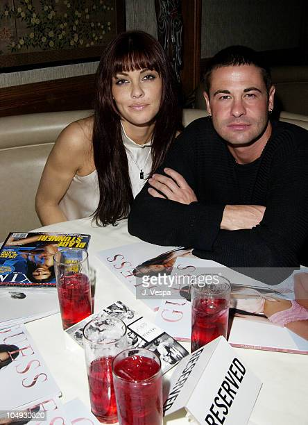 Summer Altice and David Silveria from Korn during Maxim Hot 100 Party Inside at Yamashiro in Hollywood California United States