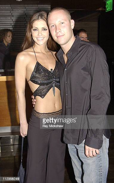 Summer Altice and Michael Rosenbaum during Michael Rosenbaum's Birthday Celebration at Falcon in Hollywood California United States