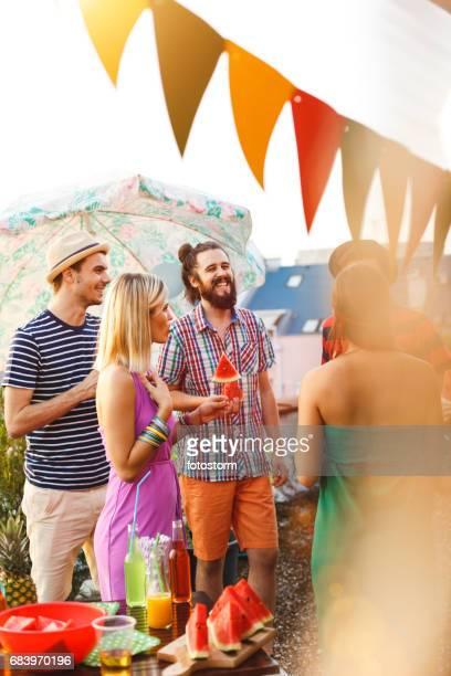 Sommer und seine Partei-Farben
