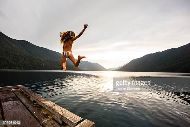 summer at a lake. - jetty stock pictures, royalty-free photos & images