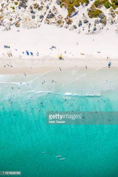 summer at perth beach in western australia - perth australia stock pictures, royalty-free photos & images