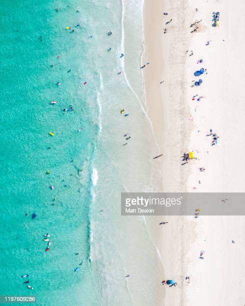 summer at the beach in western australia - perth australia stock pictures, royalty-free photos & images