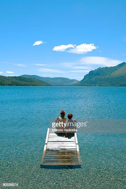 summer at the lake   - radicella stock photos and pictures