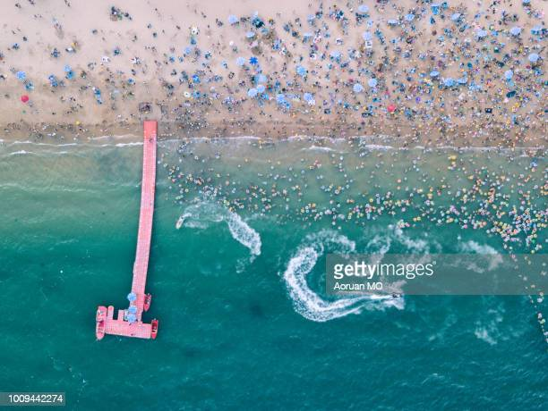 summer beach - guangdong province stock photos and pictures