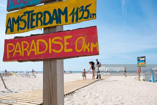 Summer beach scene in Liepaja, Latvia