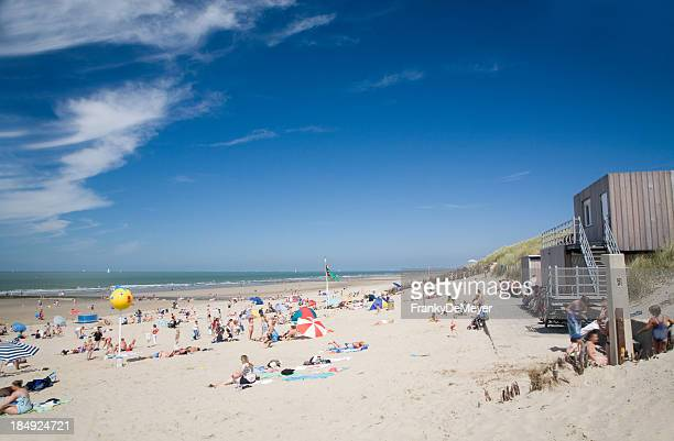 summer beach scene - coastline stock pictures, royalty-free photos & images