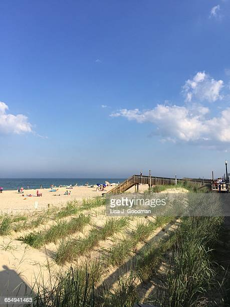summer beach time! - bethany beach stock photos and pictures