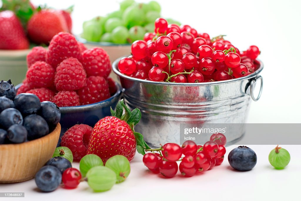 Summer Berry Variety : Stock Photo