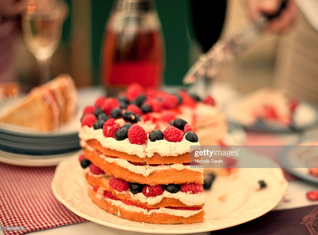 Astonishing Summer Birthday Cake High Res Stock Photo Getty Images Personalised Birthday Cards Cominlily Jamesorg