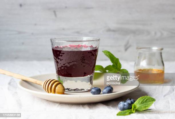 summer blueberry cold drink juice cocktail