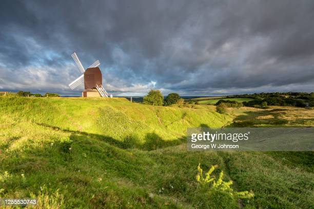 summer brill windmill ii - バッキンガムシャー ストックフォトと画像