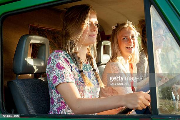 Summer campervan girls