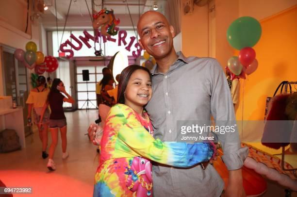 Summer Chamblin and Marc Chamblin celebrate Summer Chamblin's 13th birthday at EZ Studios on June 10 2017 in New York City