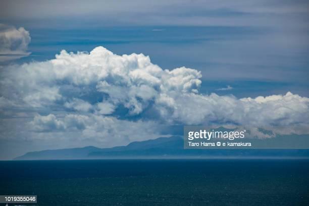 Summer clouds on Mt. Amagi in Izu Peninsula and Sagami Bay in Japan