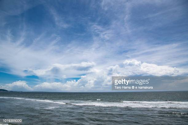 Summer clouds on Sagami Bay in Japan