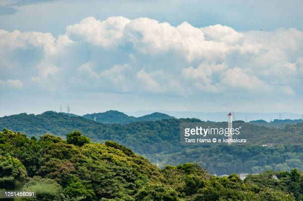 summer clouds on the mountain in kanagawa prefecture of japan - taro hama ストックフォトと画像