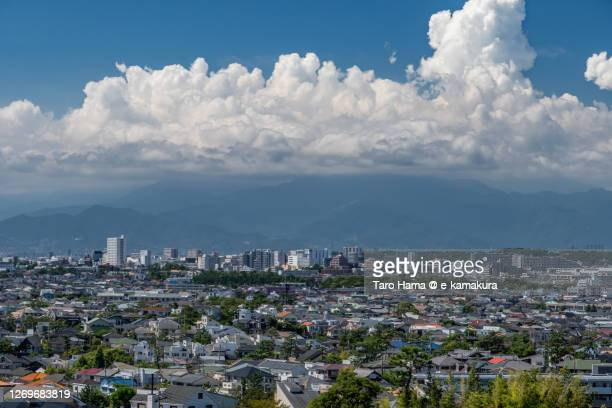 summer clouds on the residential district in kanagawa prefecture of japan - 平塚市 ストックフォトと画像