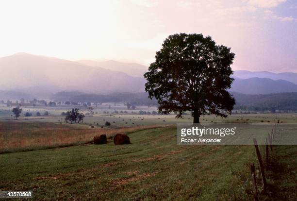 Summer comes to an end in Cades Cove in the Great Smoky Mountains National Park in Tennessee
