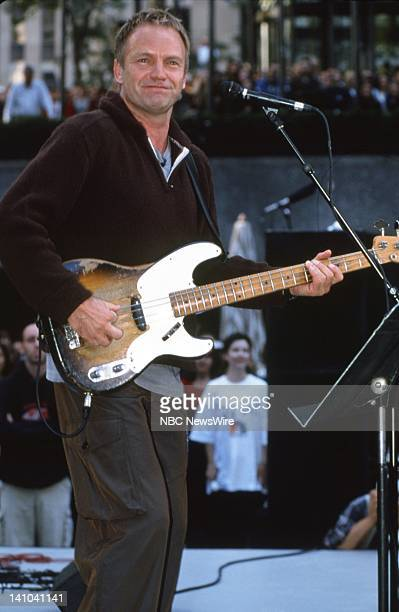 TODAY 1999 Summer Concert Series Pictured Sting performing in Rockefeller Center in 1999 Photo by David Atlas/NBC/NBC NewsWire