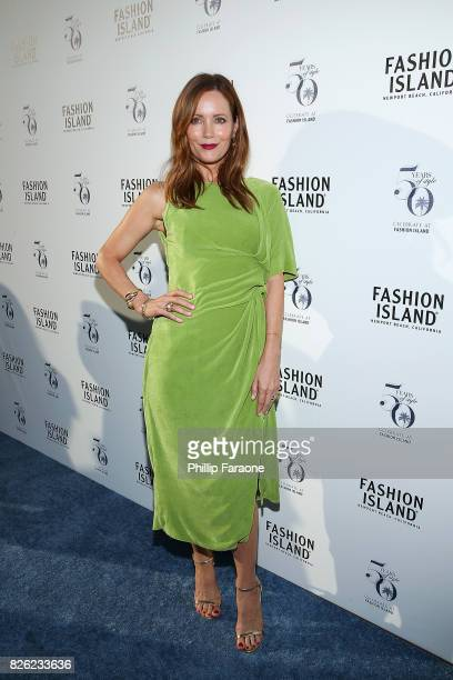 Summer cover star Leslie Mann attends the Los Angeles Confidential celebration of Fashion Island's 50th Anniversary on August 3 2017 in Newport Beach...