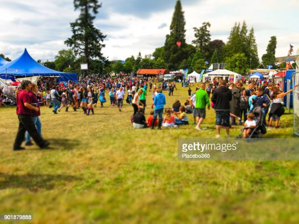 summer crowd of people festival celebration point of view - music festival stock pictures, royalty-free photos & images