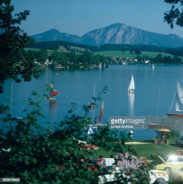A summer day at lake Pilsensee Bavaria Germany 1980s