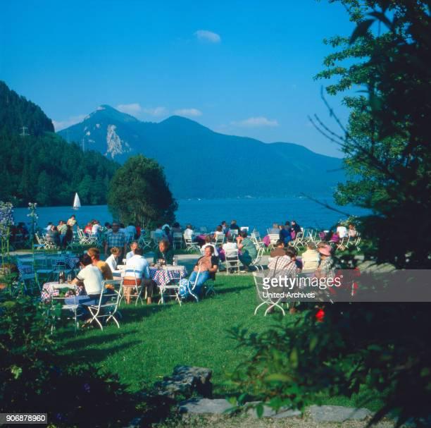 A summer day at lake Walchensee Bavaria Germany 1980s