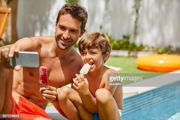 パパと一緒に夏の日