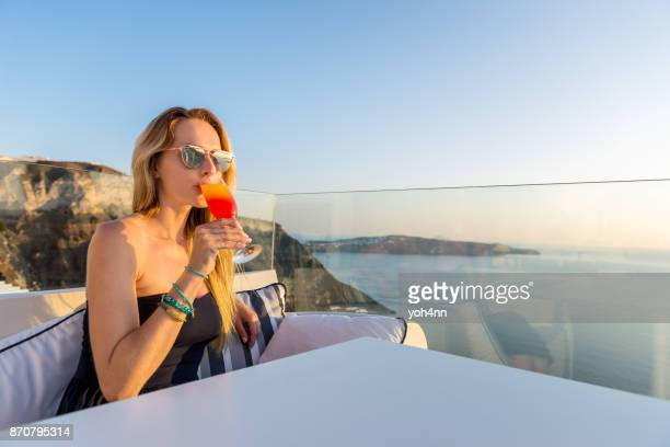 Summer drink at a roof bar