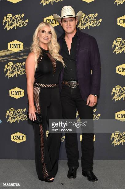 Summer Duncan and Jon Pardi attend the 2018 CMT Music Awards at Bridgestone Arena on June 6 2018 in Nashville Tennessee