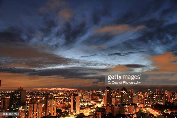 summer dusk - curitiba stock pictures, royalty-free photos & images